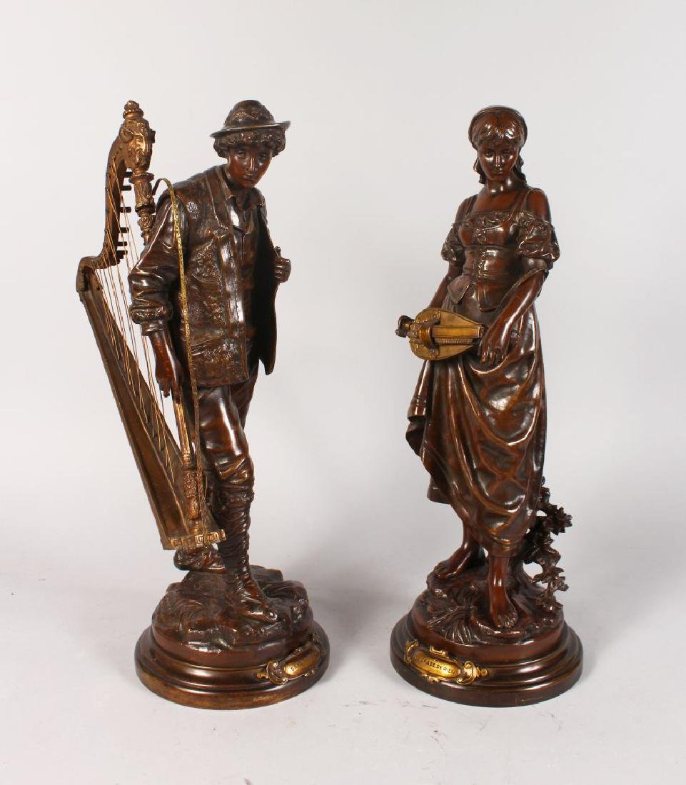 EUTROPE BOURET (1833-1906) FRENCH  A SUPERB PAIR OF