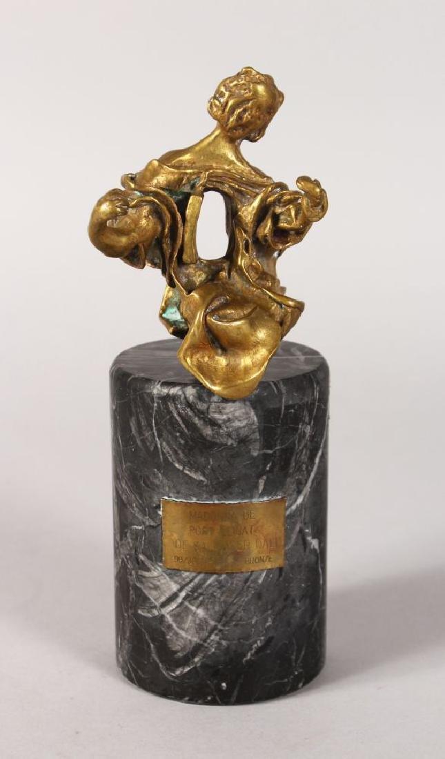 """SALVADOR DALI (1904-1989)  A GILT BRONZE """"MADONNA DE"""