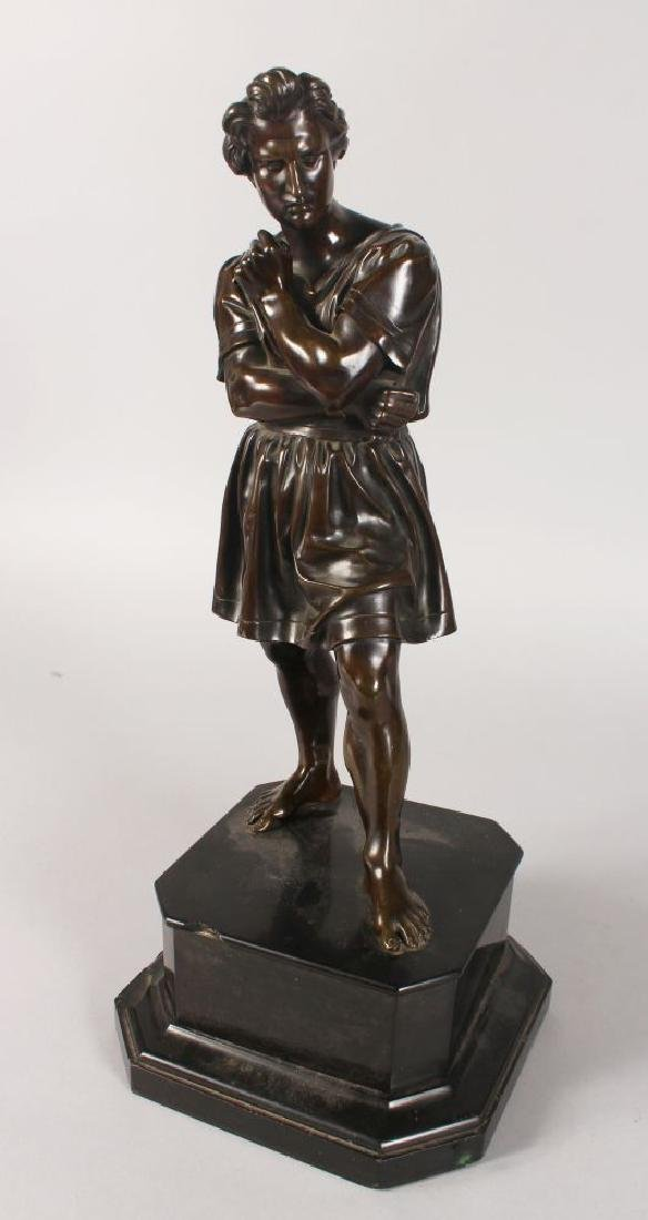 AFTER THE ANTIQUE (19TH CENTURY)  A CLASSICAL STANDING