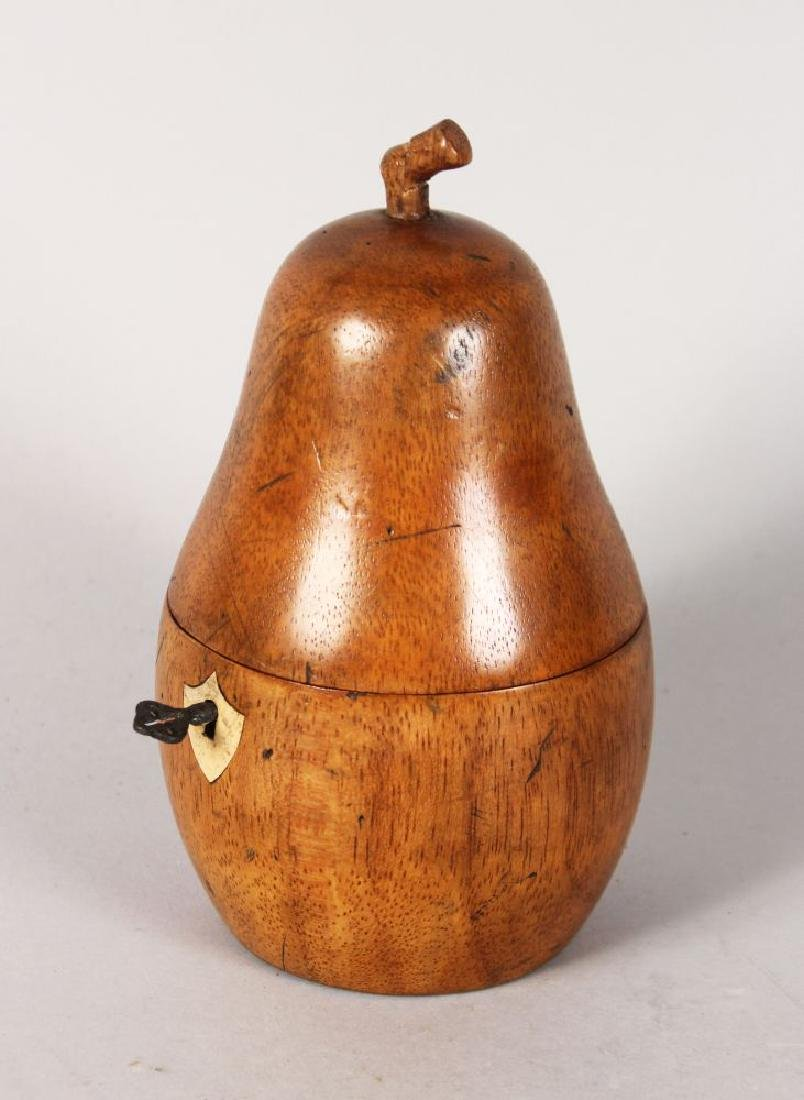 A GOOD PEAR TEA CADDY.  7ins high.