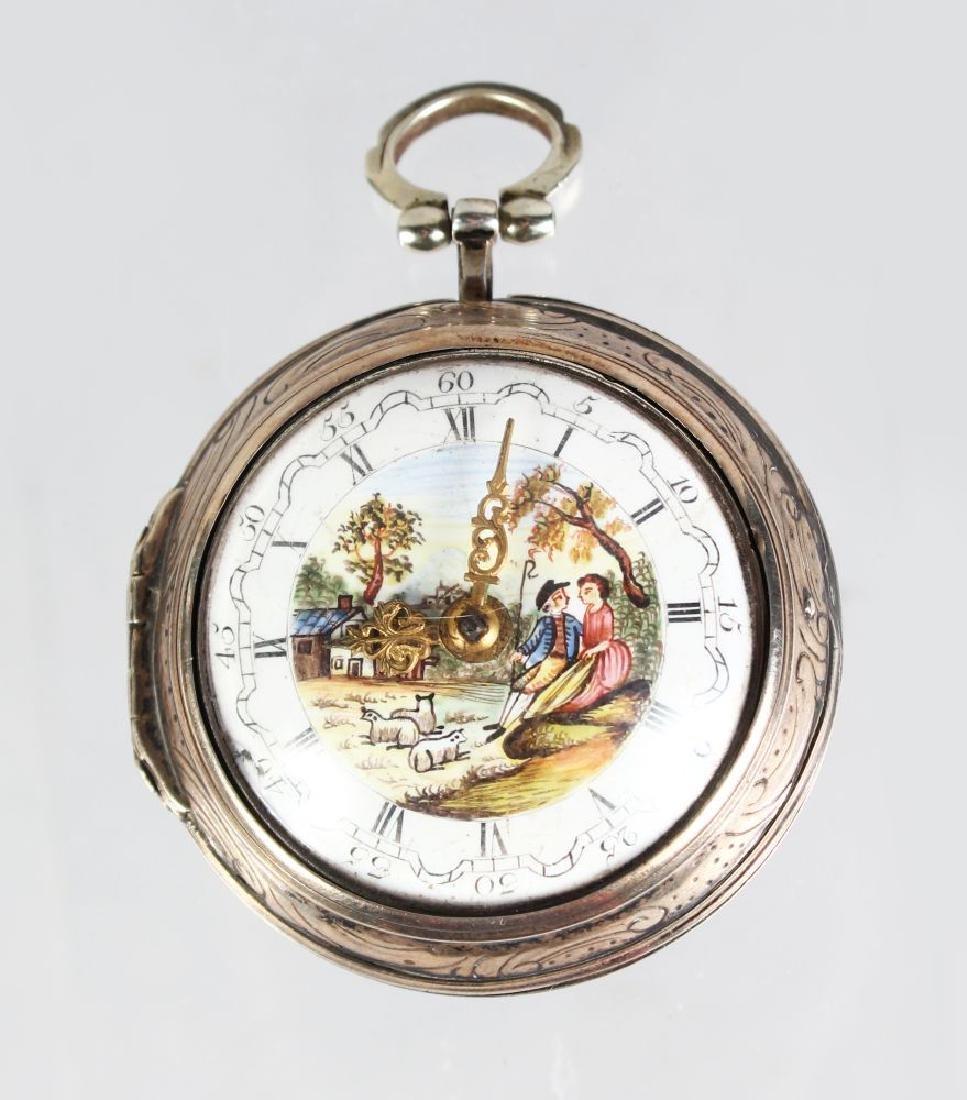 A GEORGE III SILVER VERGE POCKET WATCH by JOSEPHSON,