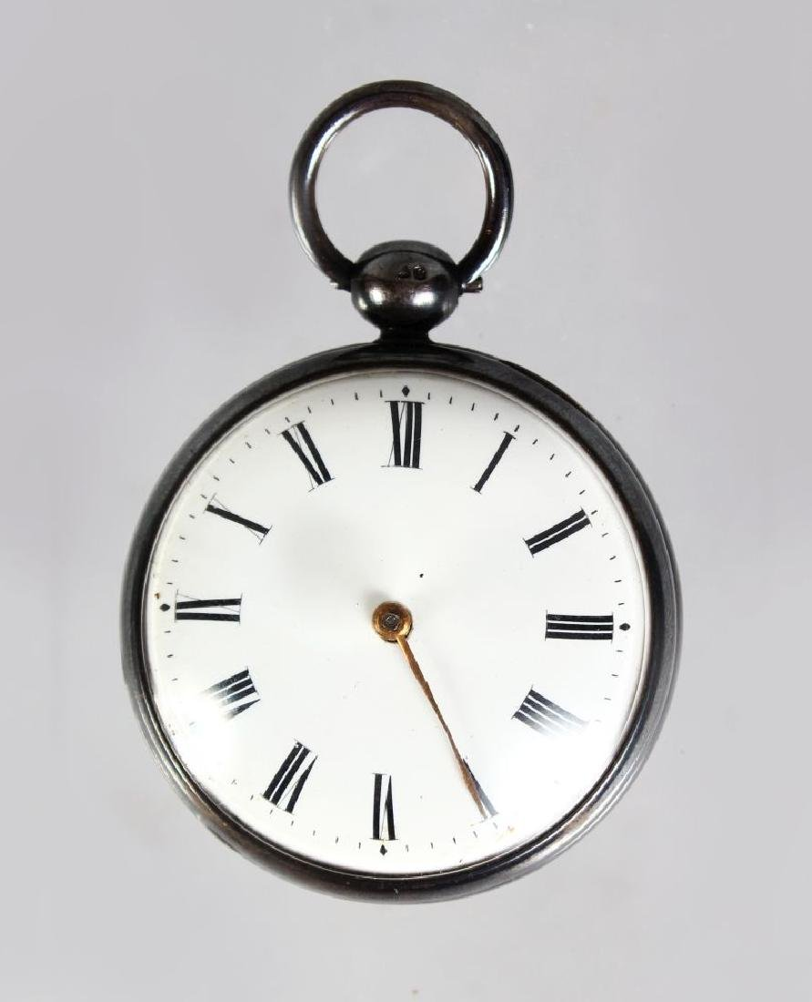A PLAIN GEORGE III SILVER VERGE POCKET WATCH by JAMES