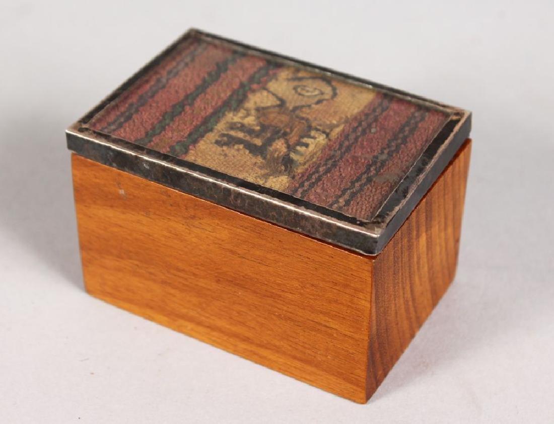 AN ANCIENT COPTIC FRAGMENT, set as a box.