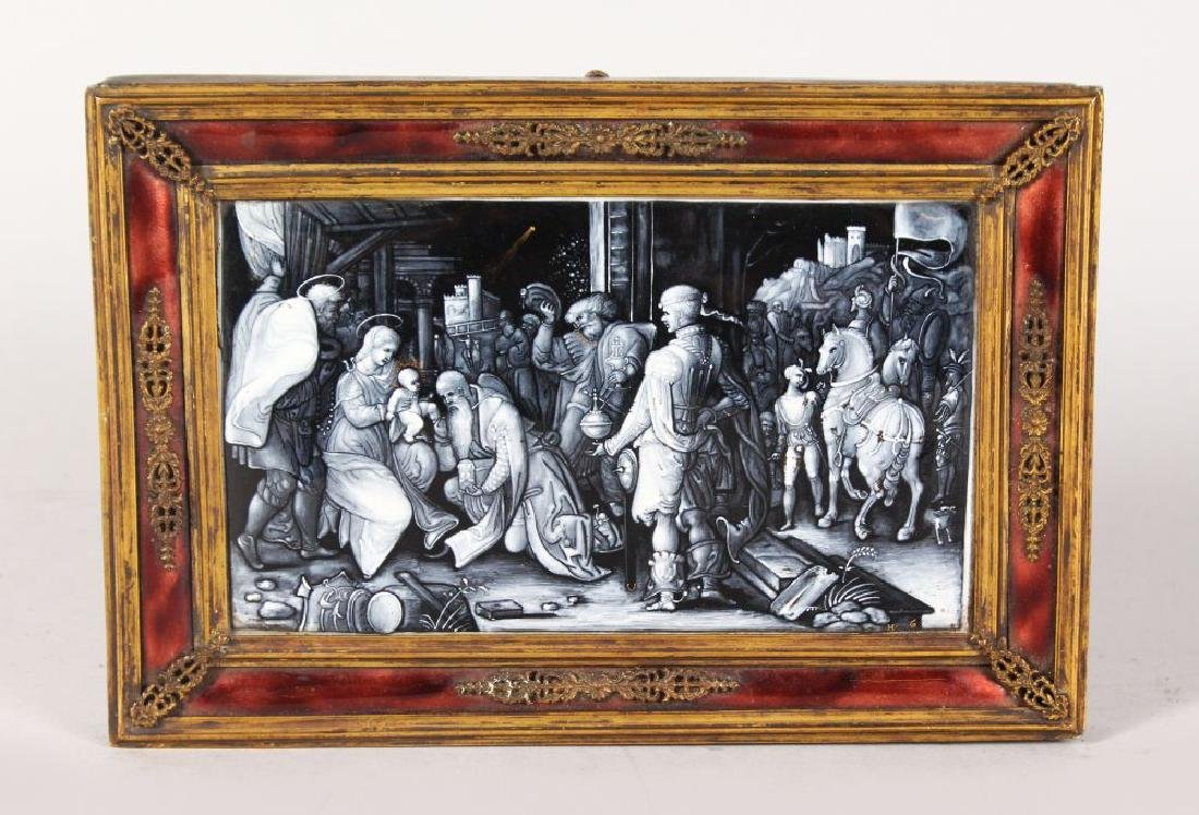 "A SUPERB 18TH CENTURY FRENCH LIMOGES PLAQUE, ""The"