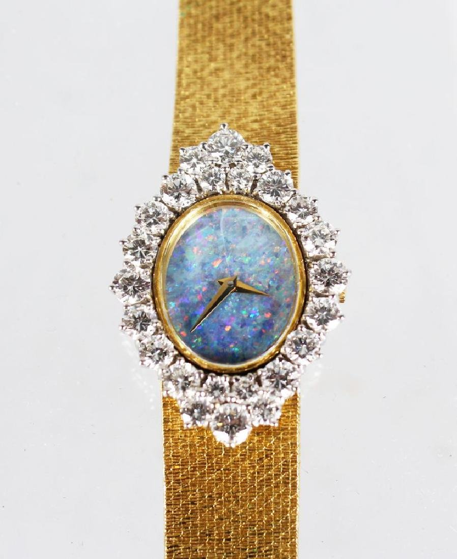 A LADIES 18CT YELLOW GOLD DIAMOND SET COCKTAIL WATCH by