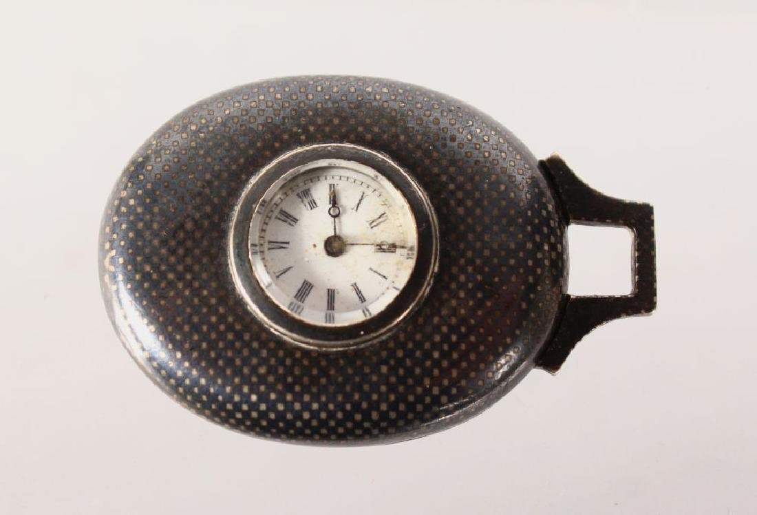A NIELLO SILVER POCKET WATCH.