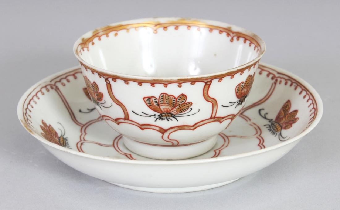 AN UNUSUAL 18TH CENTURY CHINESE PORCELAIN TEABOWL &