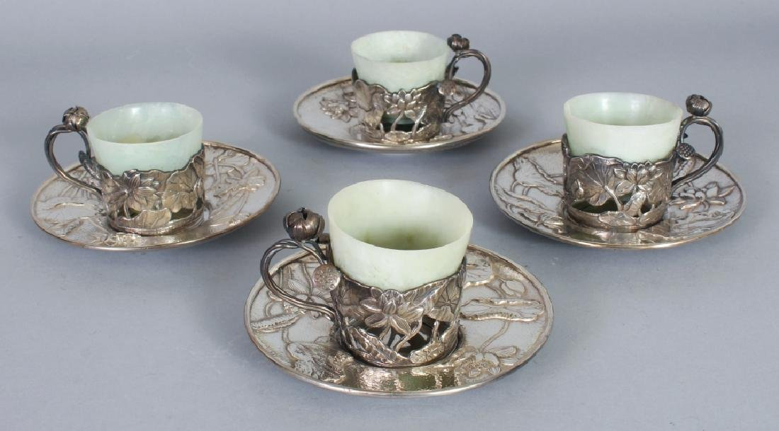 A SET OF FOUR FINE QUALITY EARLY 20TH CENTURY JAPANESE