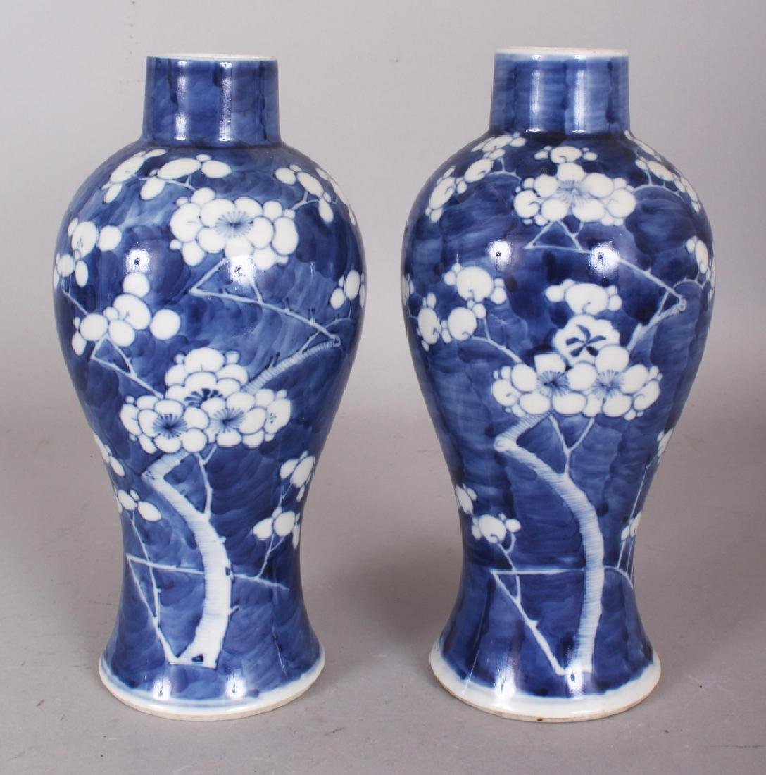 A PAIR OF 19TH CENTURY CHINESE BLUE & WHITE PORCELAIN