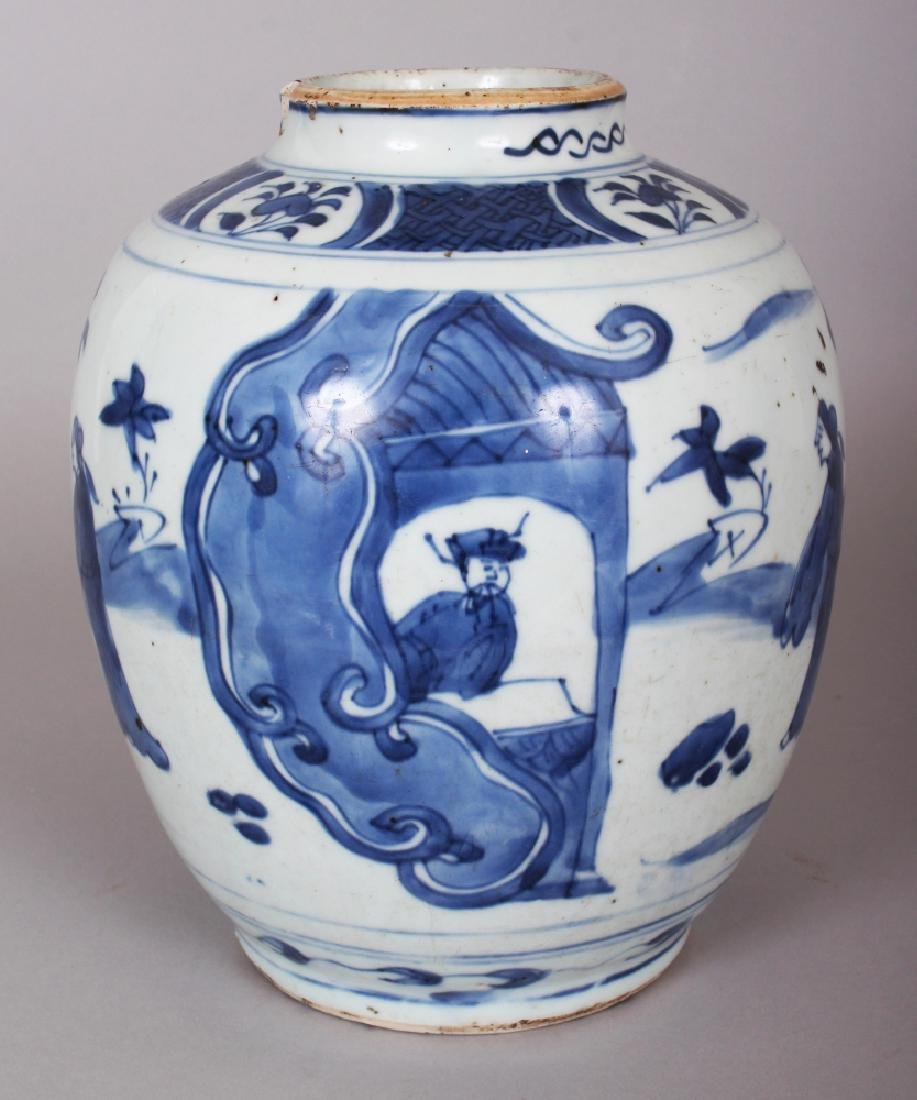 A CHINESE WANLI PERIOD BLUE & WHITE PORCELAIN JAR, the - 3