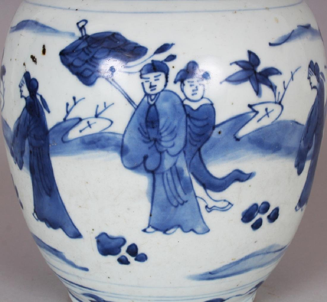 A CHINESE WANLI PERIOD BLUE & WHITE PORCELAIN JAR, the - 5