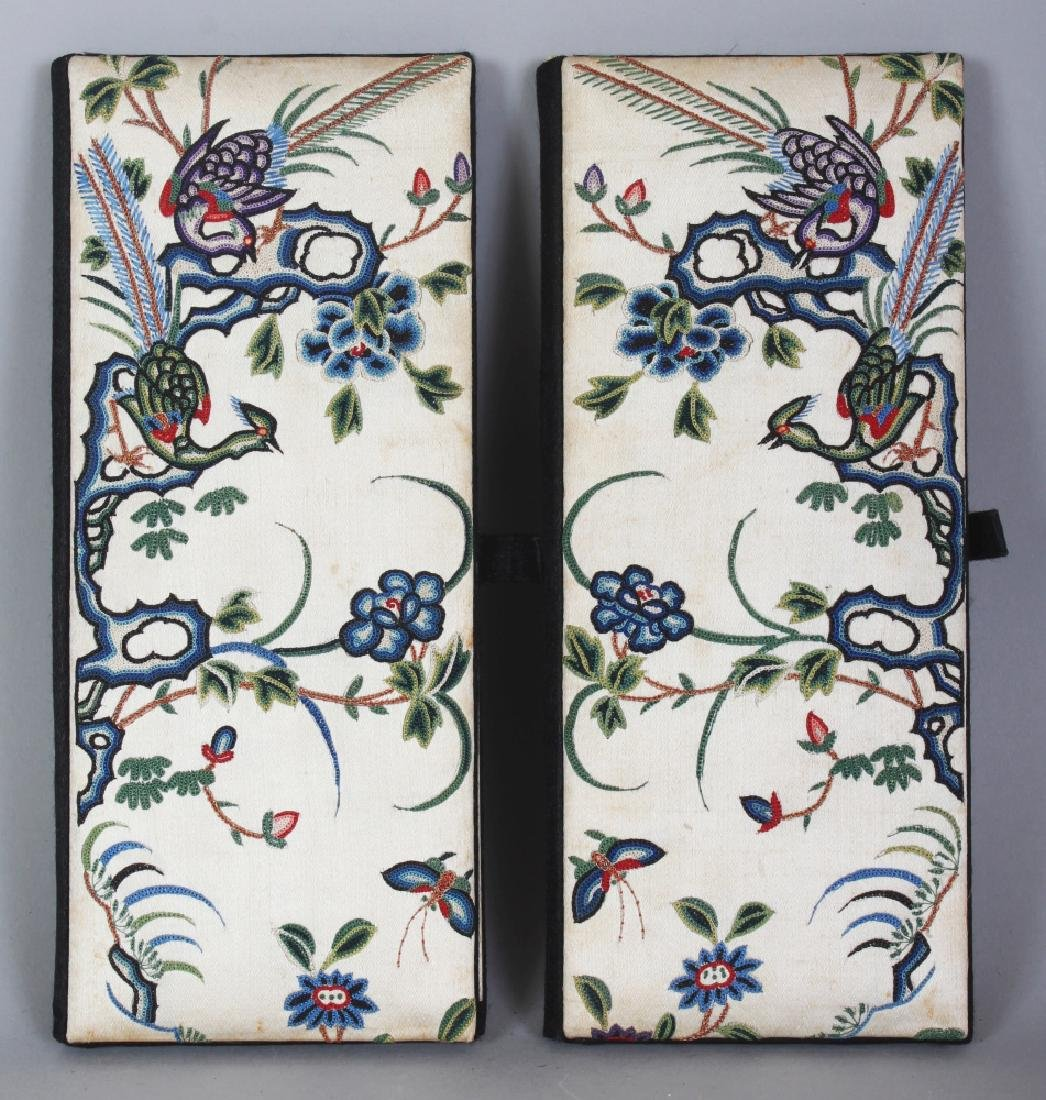 AN UNUSUAL MIRROR PAIR OF EARLY 20TH CENTURY CHINESE