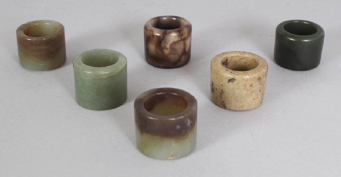 A GROUP OF SIX CHINESE MING & QING DYNASTY JADE