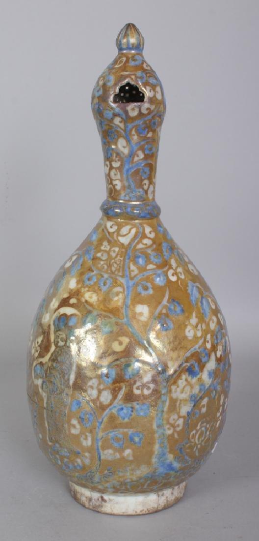 A PERSIAN SAFAVID LUSTRE GLAZED POTTERY EWER, 17th - 4