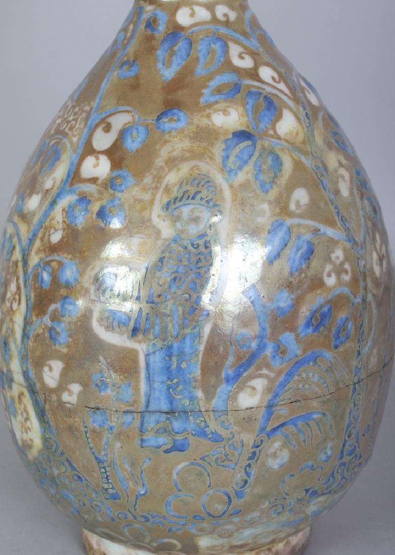 A PERSIAN SAFAVID LUSTRE GLAZED POTTERY EWER, 17th - 5