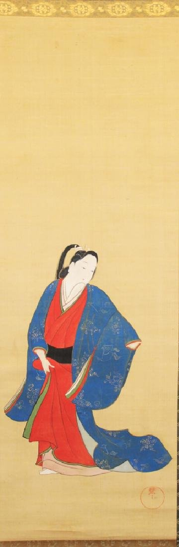 A 19TH/20TH CENTURY JAPANESE HANGING SCROLL PAINTING ON