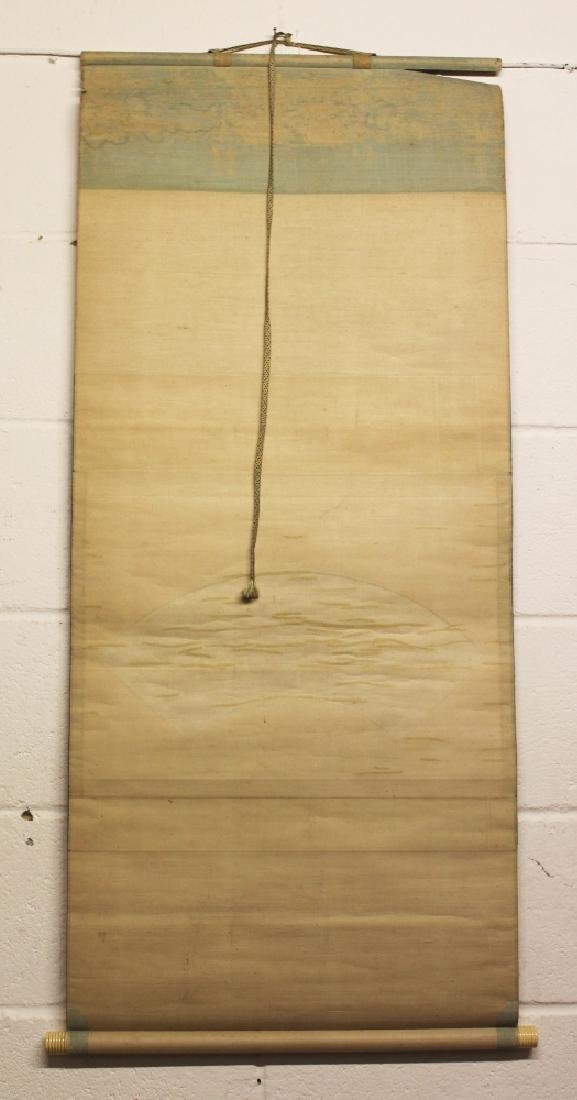 A JAPANESE MEIJI PERIOD HANGING SCROLL FAN PAINTING BY - 4