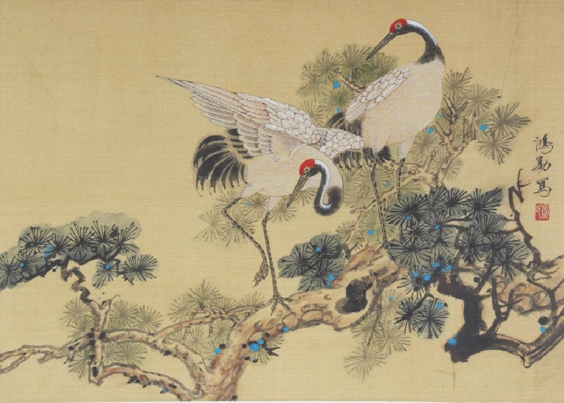 A 20TH CENTURY FRAMED CHINESE PAINTING ON SILK,