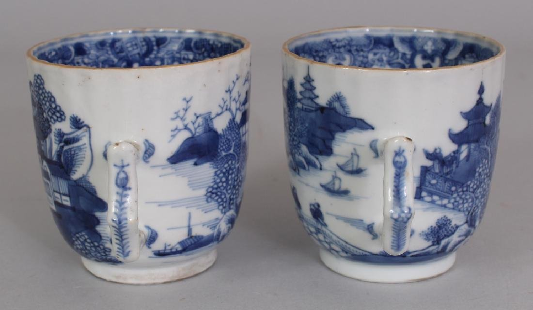 A PAIR OF 18TH CENTURY CHINESE QIANLONG PERIOD BLUE & - 2