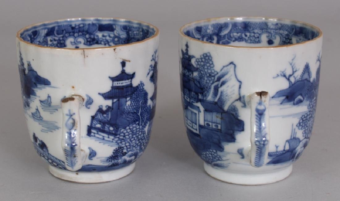 A PAIR OF 18TH CENTURY CHINESE QIANLONG PERIOD BLUE & - 4