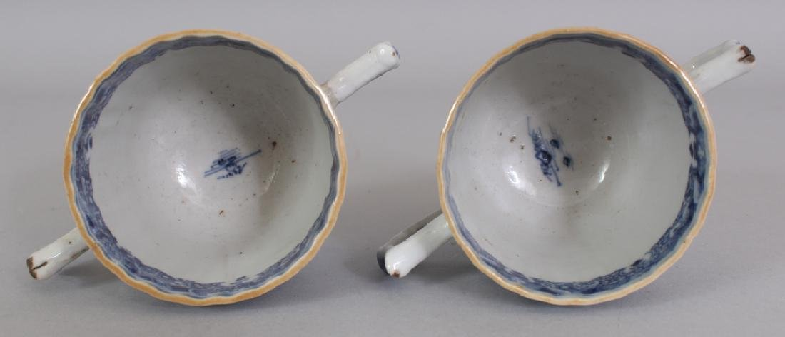 A PAIR OF 18TH CENTURY CHINESE QIANLONG PERIOD BLUE & - 8