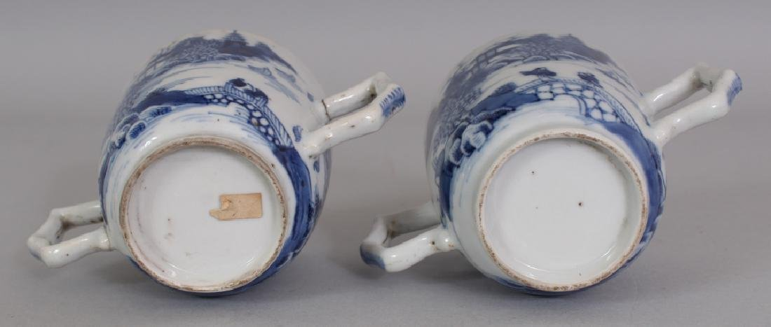 A PAIR OF 18TH CENTURY CHINESE QIANLONG PERIOD BLUE & - 9