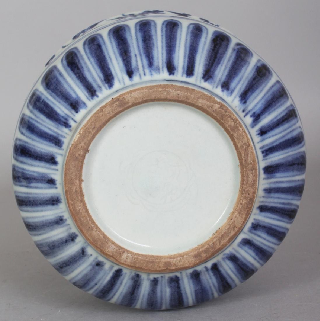 A CHINESE MING STYLE BLUE & WHITE PORCELAIN PHOENIX - 8