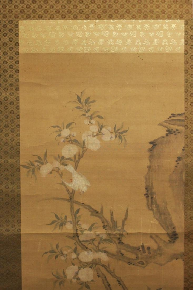 A 19TH/20TH CENTURY JAPANESE HANGING SCROLL PAINTING ON - 3