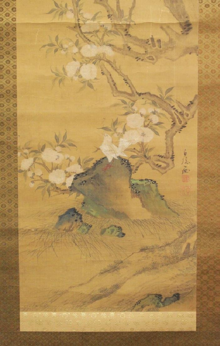 A 19TH/20TH CENTURY JAPANESE HANGING SCROLL PAINTING ON - 4