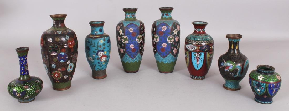A GROUP OF EIGHT VARIOUS JAPANESE MEIJI PERIOD