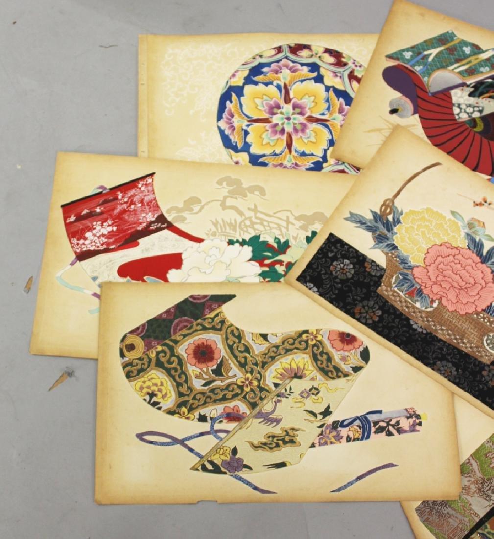 A GROUP OF TEN EARLY 20TH CENTURY JAPANESE KIMONO - 3