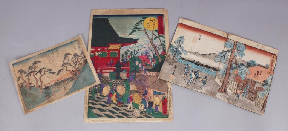 A 19TH CENTURY JAPANESE OBAN YOKO-E WOODBLOCK PRINT BY