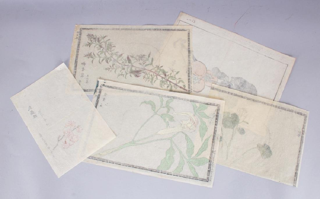 A GROUP OF FIVE 19TH CENTURY JAPANESE WOODBLOCK PRINTS, - 10