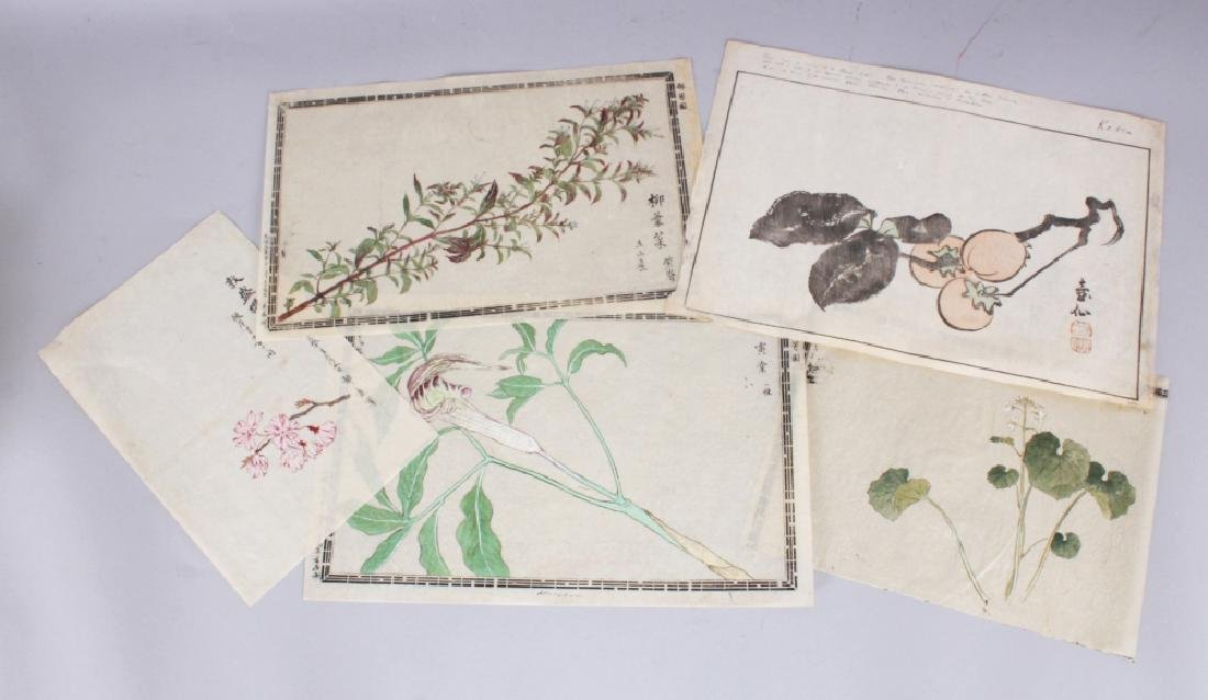 A GROUP OF FIVE 19TH CENTURY JAPANESE WOODBLOCK PRINTS,