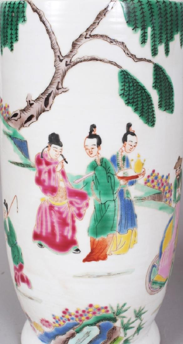 A MIRROR PAIR OF CHINESE YONGZHENG STYLE FAMILLE ROSE - 5