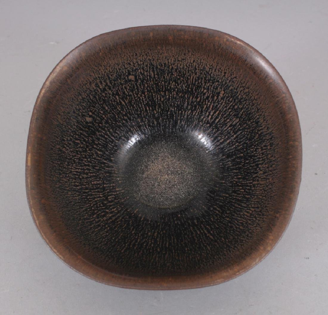 A CHINESE SONG STYLE JIAN WARE HARE'S FUR CERAMIC BOWL, - 4
