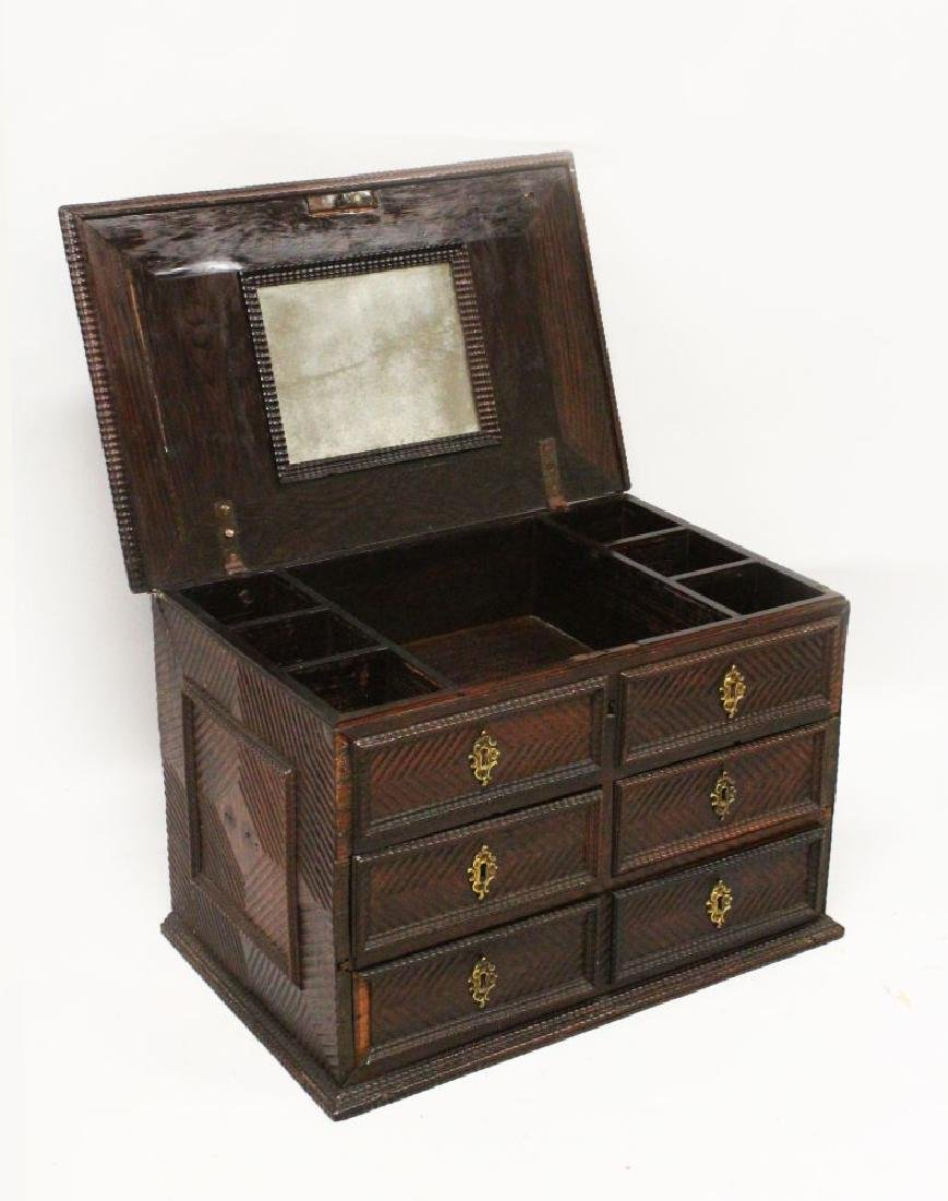 A 17TH/18TH CENTURY PORTUGUESE PADOUK WOOD TABLE CHEST,