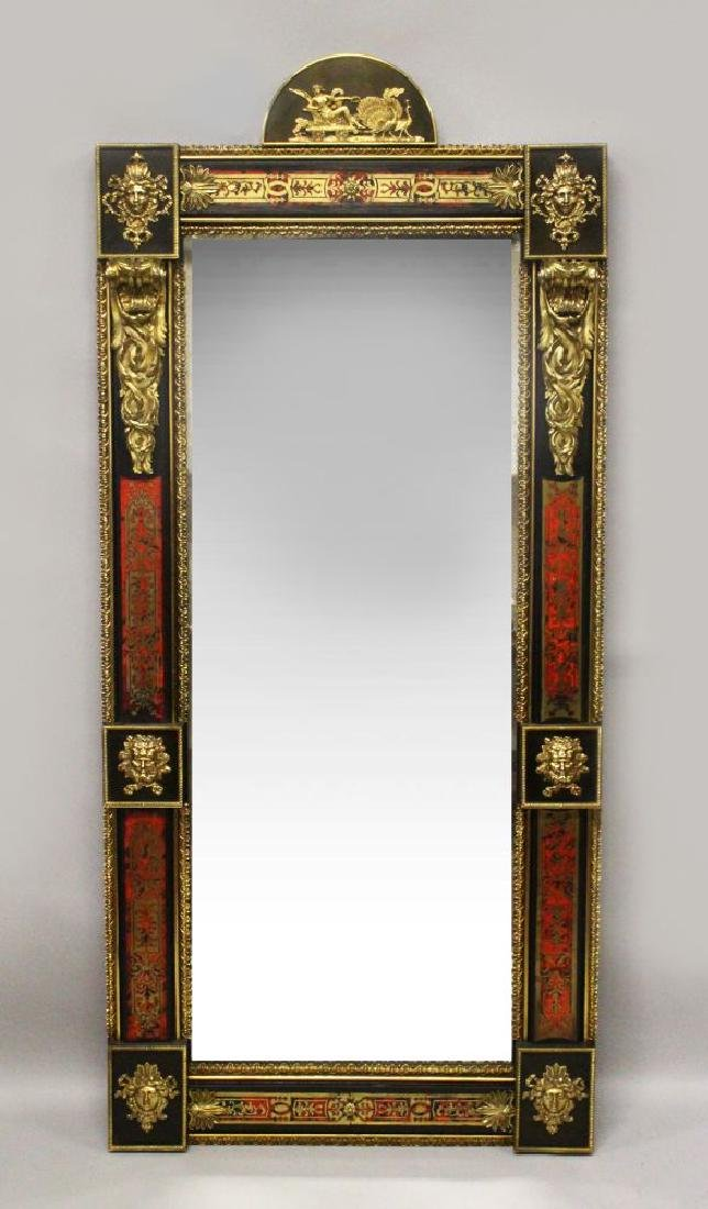 A VERY GOOD 18TH/19TH CENTURY TORTOISESHELL EBONY AND