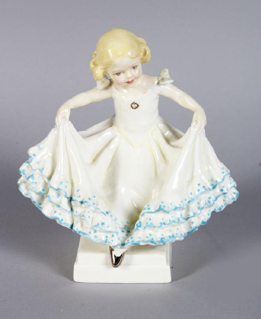 "A ROYAL WORCESTER PORCELAIN FIGURE, ""MASQUERADE"" NO:"