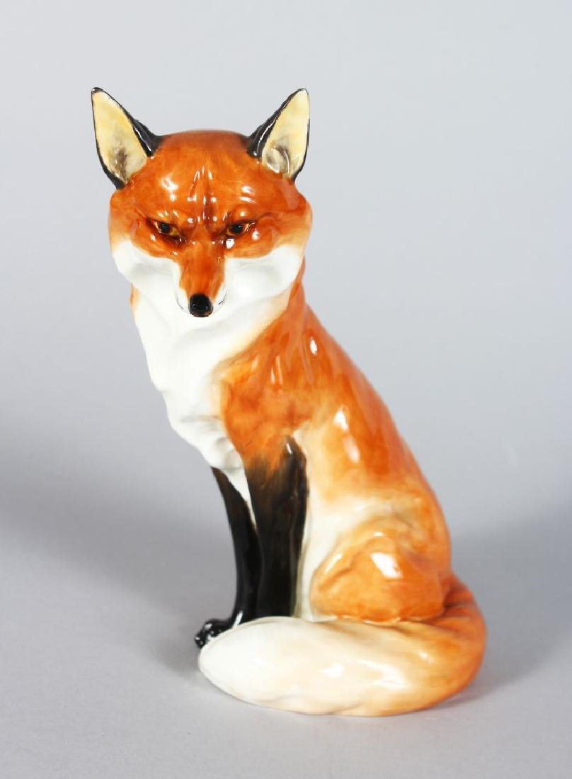 A ROYAL WORCESTER SEATED FOX No: 2993  8in high
