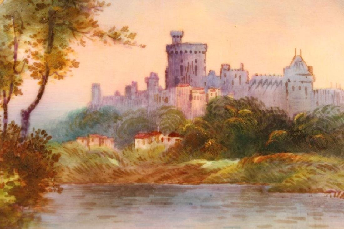 "A ROYAL DOULTON PLATE ""WINDSOR CASTLE"" PAINTED BY S H - 2"