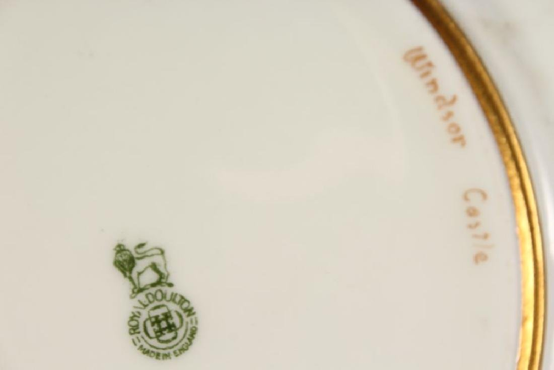 "A ROYAL DOULTON PLATE ""WINDSOR CASTLE"" PAINTED BY S H - 4"