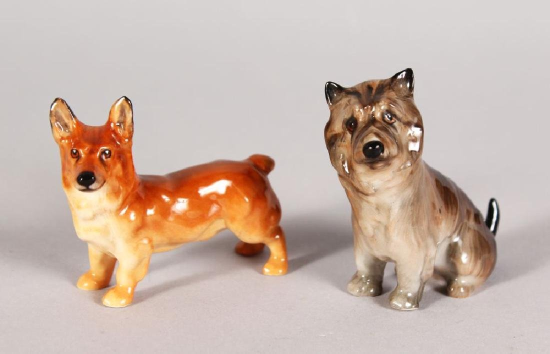 TWO ROYAL DOULTON DOGS, K16 & K11 2in and 2.5in high