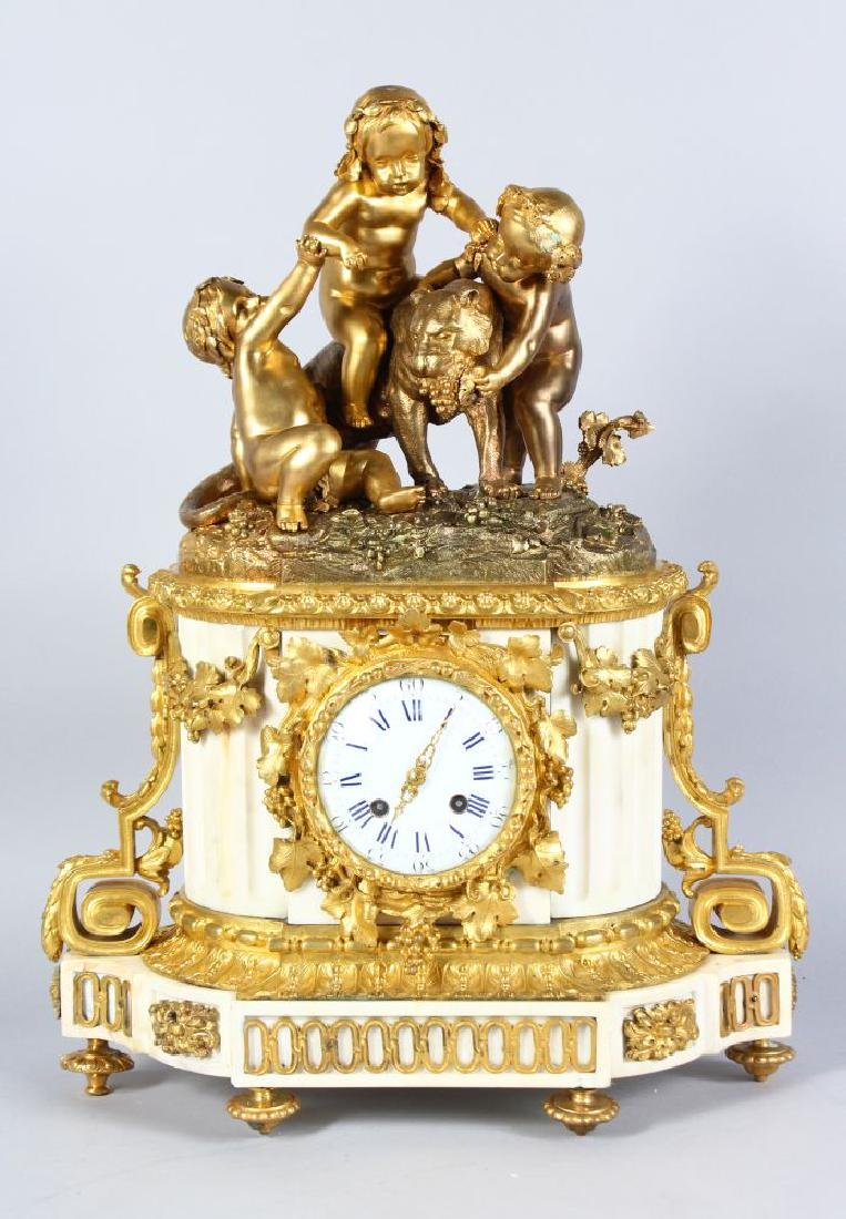 A SUPERB 19TH CENTURY LOUIS XVIth GILT ORMOLU AND WHITE