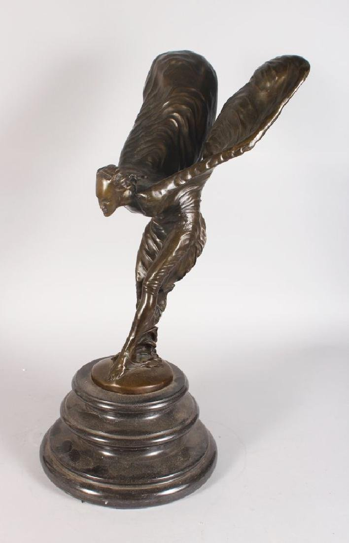 """AFTER SYKES A LARGE BRONZE """"SPIRIT OF ECSTACY"""" on a"""