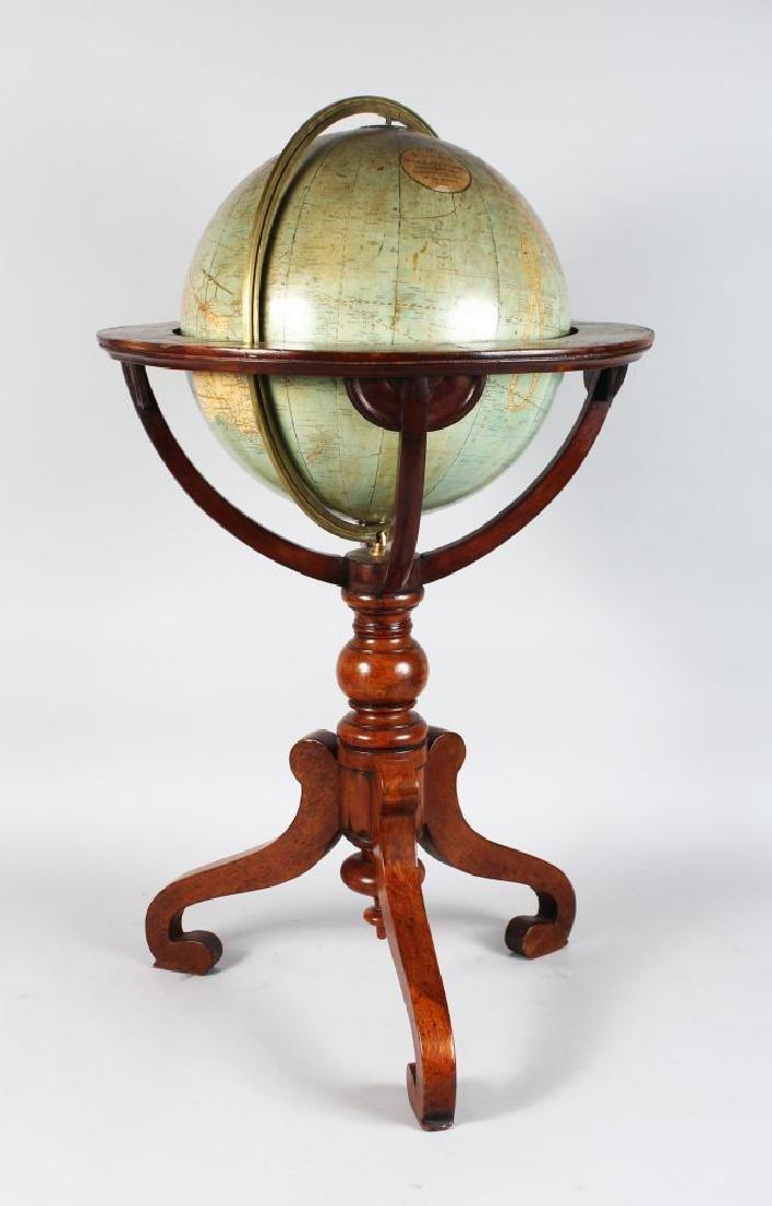 A GOOD 12-INCH 19TH CENTURY GLOBE, by W & AK JOHNSTON