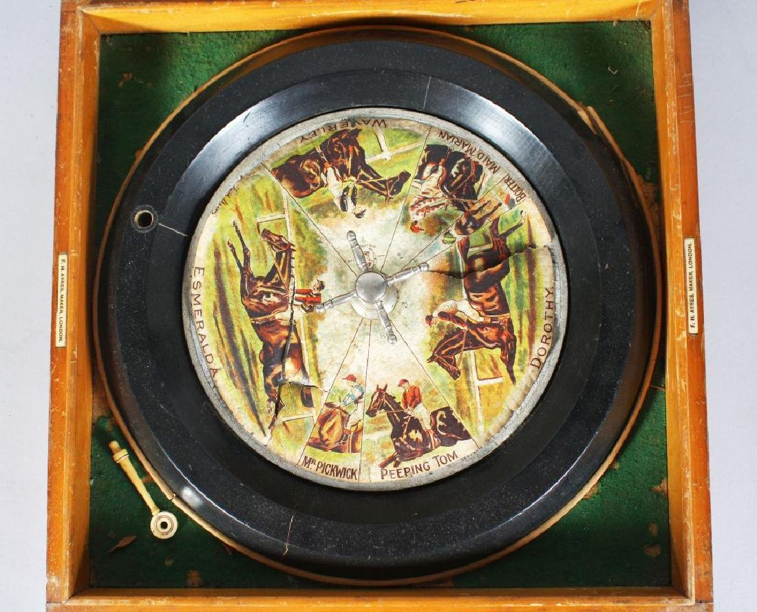 "AN EARLY FH AYRES ""SANDOWN HORSE RACING ROULETTE GAME"""