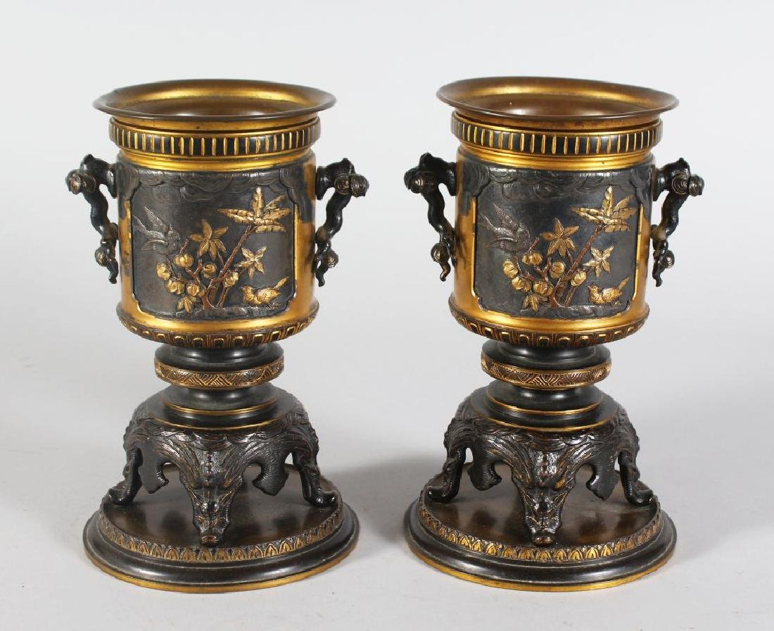 A GOOD PAIR OF EARLY 20TH CENTURY BARBEDIENNE &