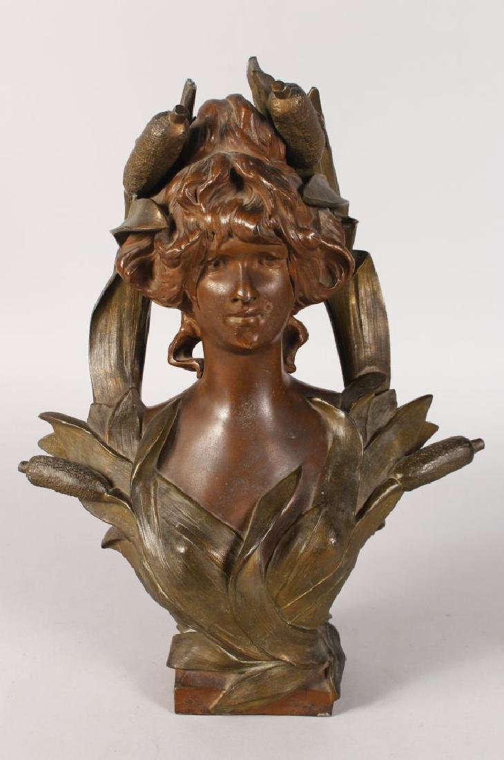AFTER F. AIRD  A BRONZED CLASSICAL FEMALE BUST.