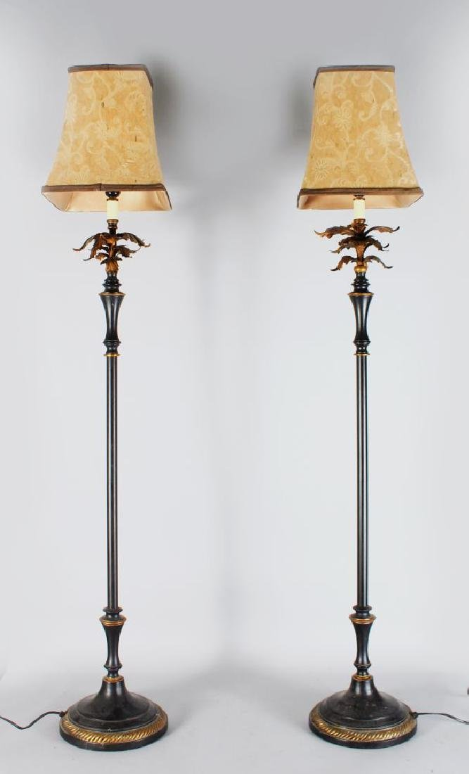 A PAIR OF 20TH CENTURY CAST BRONZE STYLE STANDARD